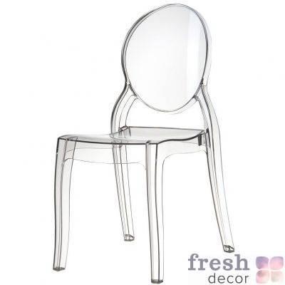 elizabeth clear polycarbonate outdoor bistro chair clea 1
