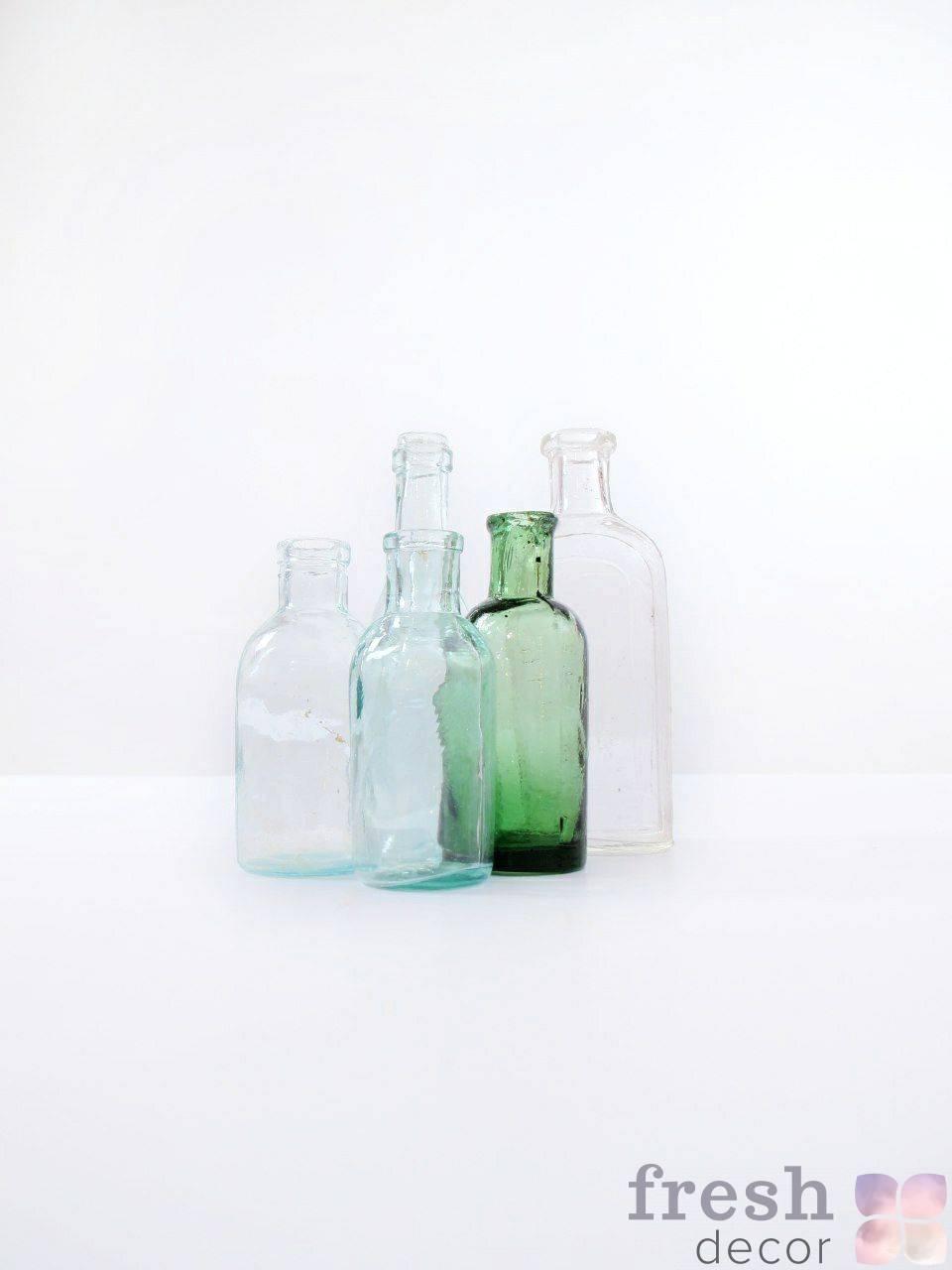 retro butylki iz stekla