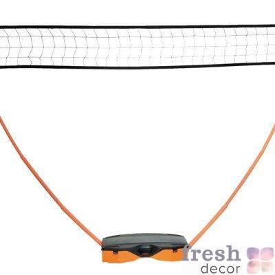 mobilnaya setka dlya badmintona s raketkami i volanchikom v arendu