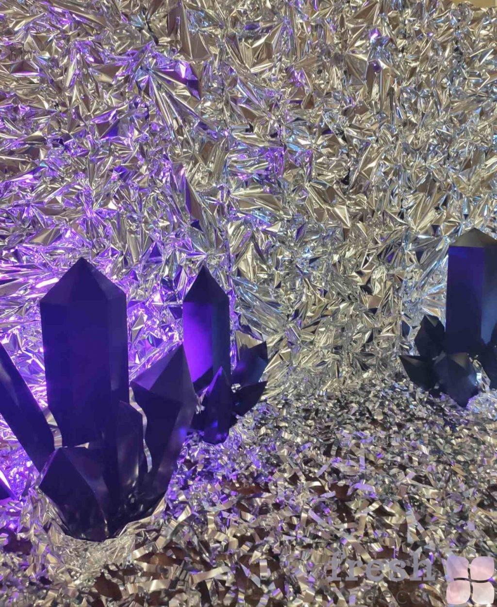 serebryanaya fotozona s prorostayushhimi kristalami