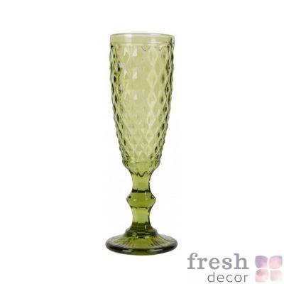 bokal dlya shampanskogo olivkovogo cveta v srednij romb