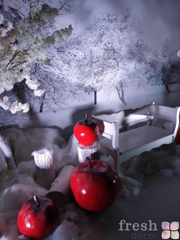 fotozona s bannerom dlya zimy