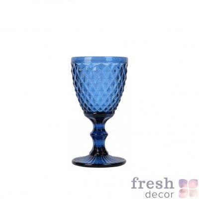 sinij bokal iz stekla 1