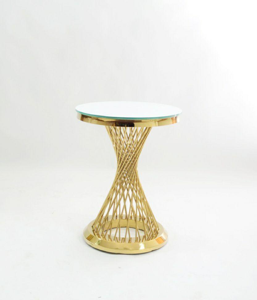 zolotoj kruglyj kofejnyj stol s prutikami s beloj stoleshnicej v ukraine