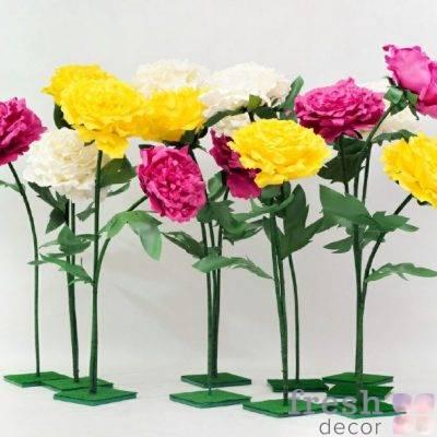 izgotovlenie raznocvetnyx cvetov iz izolona