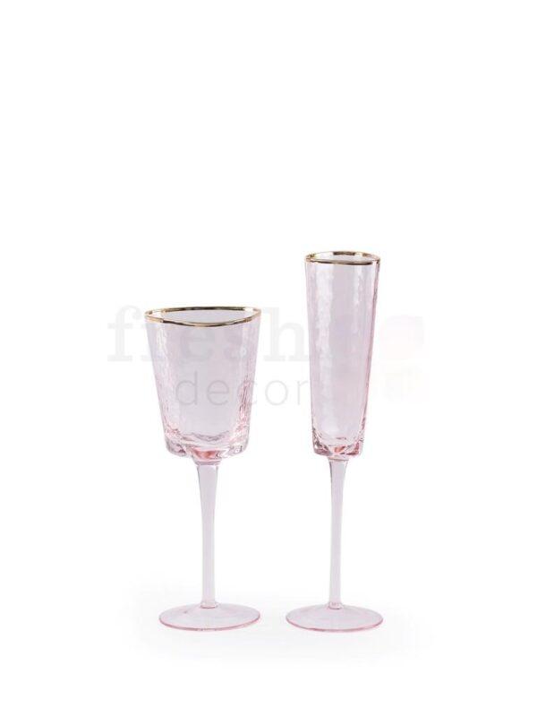 Bokaly iz stekla nabor Ajs Jevans 1