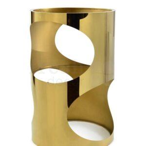 Kruglyj metallicheskij koktelnyj stolik v stile modern 2