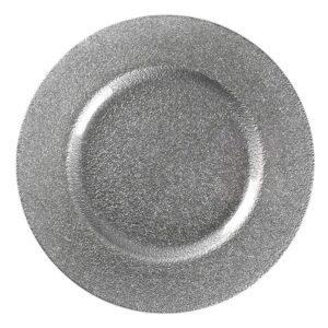 Serebrjanaja kruglaja podstanovochnaja tarelka min