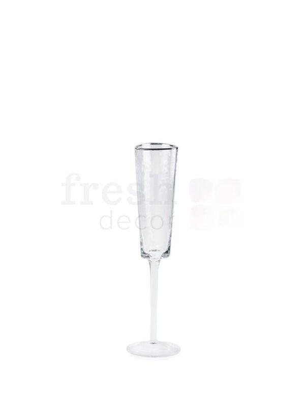 nabor bokalov dlja shampanskogo i vina Ice EVANS s serebrjanoj kaemkoj 2