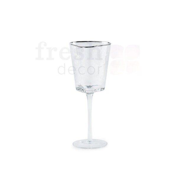 nabor bokalov dlja shampanskogo i vina Ice EVANS s serebrjanoj kaemkoj 3