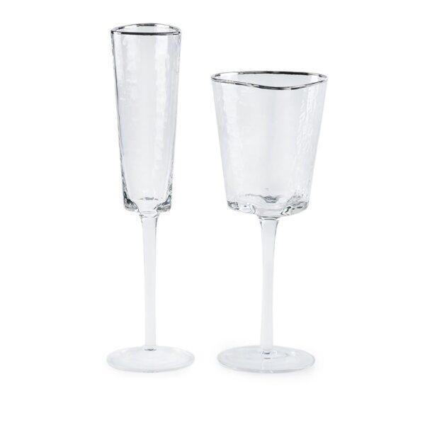 nabor bokalov dlja shampanskogo i vina ice evans s kaemkoj