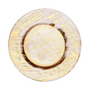 prozrachnaja podstanovochnaja tarelka fenics s zolotymi mazkami