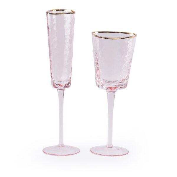 rozovyj bokal dlja shampanskogo