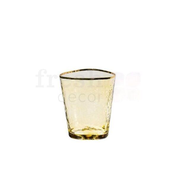 hejbol stakan zheltogo cveta dlja vody s zolotoj kajmoj 1