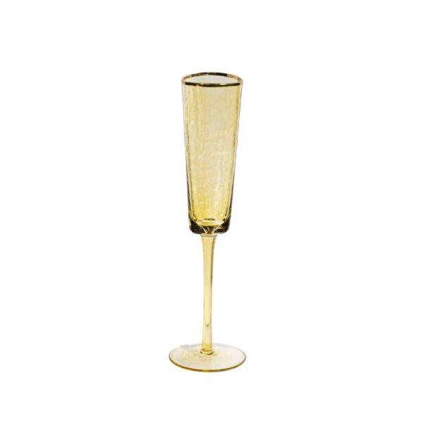 jantarnyj bokal dlja shampanskogo ice evans s zolotoj kaemkoj