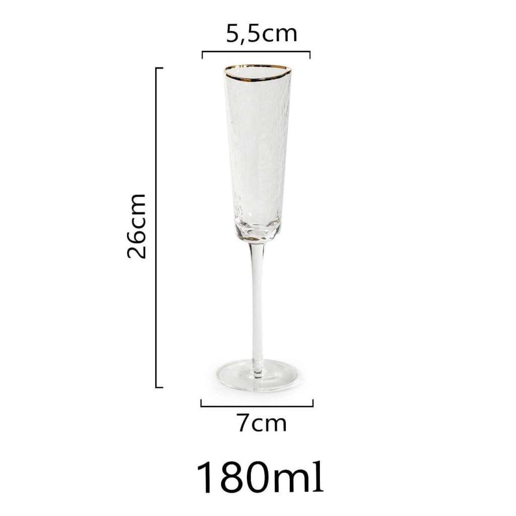razmery bokala dlja shampanskogo s zolotym kantikom