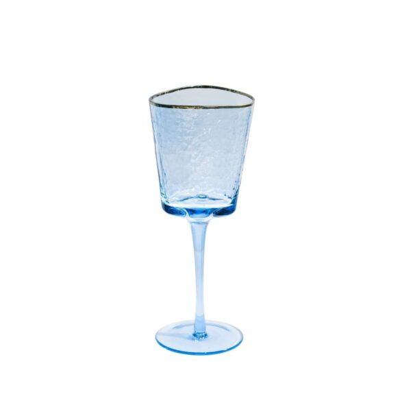 sinij bokal dlja vina ice evans s zolotoj kajmoj