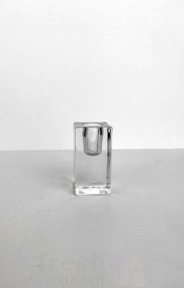 podsvechnik prjamougolnyj stekljannyj na 1 svechu
