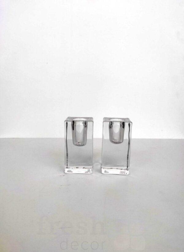 podsvechniki prjamougolnye stekljannye na 1 svechu