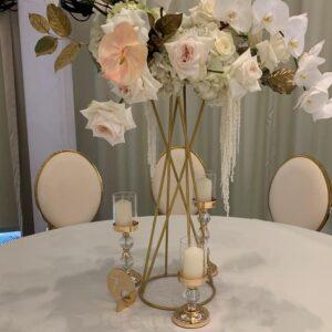 stojki dlja cvetov zolotogo cveta 2