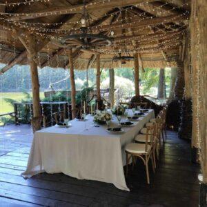 svetovoj dekor besedki u vody restorana skovoroda harkov