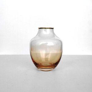 vaza jantarnaja steklo 12 5 sm