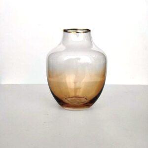 vaza jantarnaja steklo 15 sm
