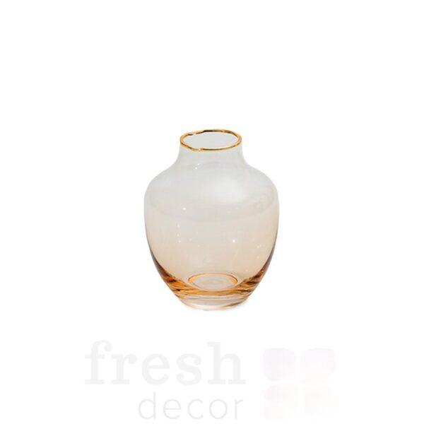 vaza prozrachnaja 12 5sm stekljannaja jantarnaja