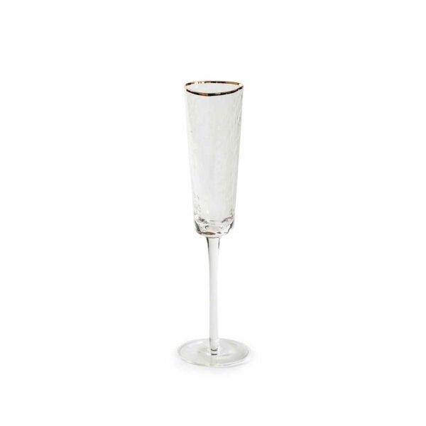ice evans prozrachnyj bokal dlja shampanskogo s zolotym kantom