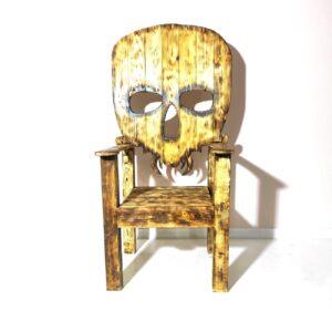 kreslo tron na hellouin dlja zlogo nachalnika