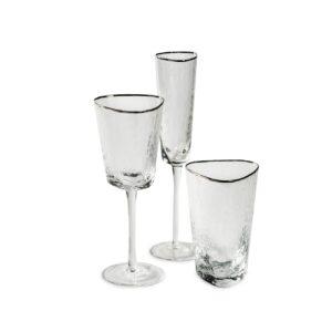 nabor bokalov s serebrjanym kantom dlja vody i vina i shampanskogo 1
