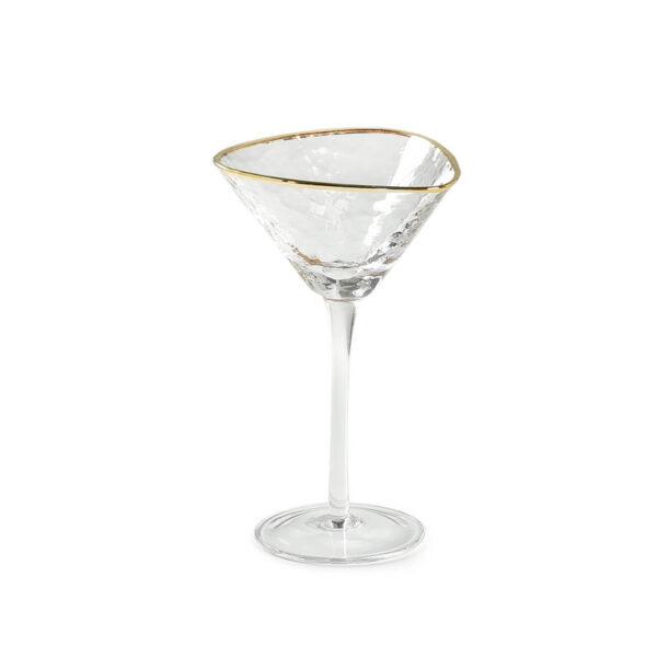 bokal dlja martini ice evans prozrachnyj s zolotoj okantovkoj