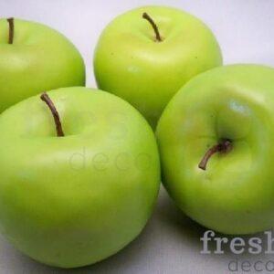 4 bolshih iskusstvennyh zelenye jabloki frukty 1