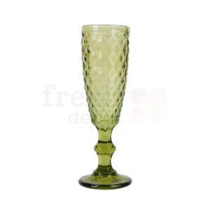 bokal dlya shampanskogo olivkovogo cveta v srednij romb 1