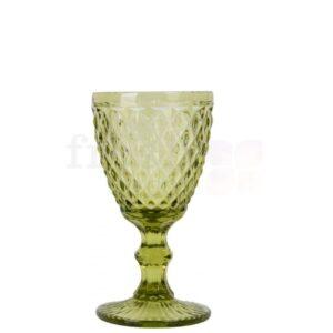 bokal dlya vina olivkovogo cveta v srednij romb 1