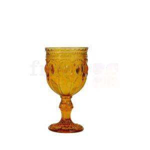 bokal dlya vina oranzhevogo cveta s ornamentom 1