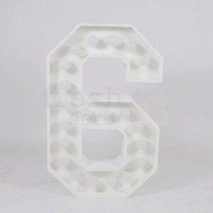 cifra 6 s lampochkami prokat 1