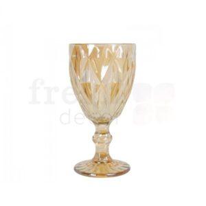 dekorativnyj bokal zolotistogo cveta s krupnymi granyami 1