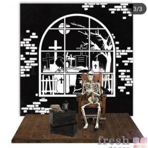 fotozona na xellouin so skeletom 1