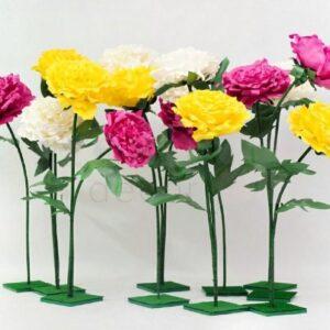 izgotovlenie raznocvetnyx cvetov iz izolona 1
