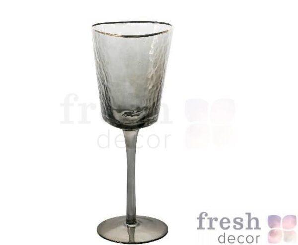 jevans dlja vina rozovye s moroznogo stekla s zolotym obodkom 2 1