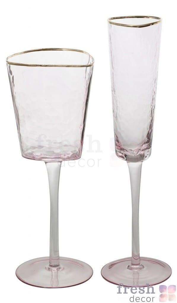 jevans rozovye s moroznogo stekla s zolotym obodkom 1