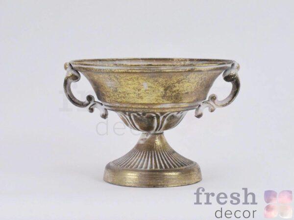 kashpo iz cvetov bronzovoe 1