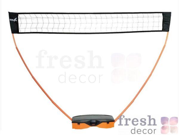mobilnaya setka dlya badmintona s raketkami i volanchikom v arendu 1