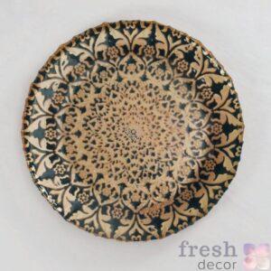 podstanovochnaya tarelka s risunkom sinego i bezhevogo cveta v arabskom stile 5 1