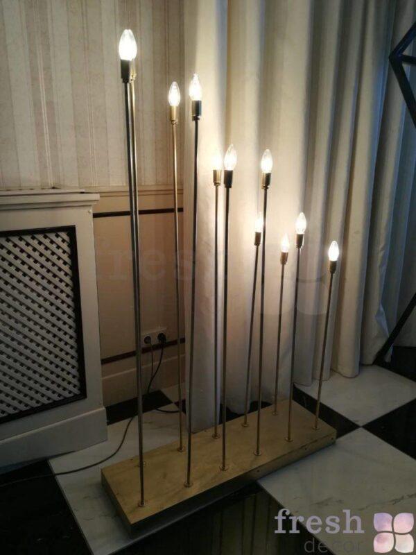 svetilniki na dlinnyx trubkax v vide svechej 1