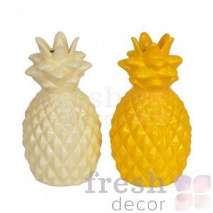 vaza ananas bolshoj belyj zheltyj 1