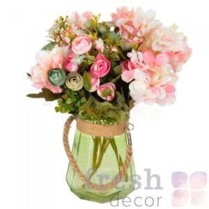 vaza podsvechnik steklyannaya zelenaya 1