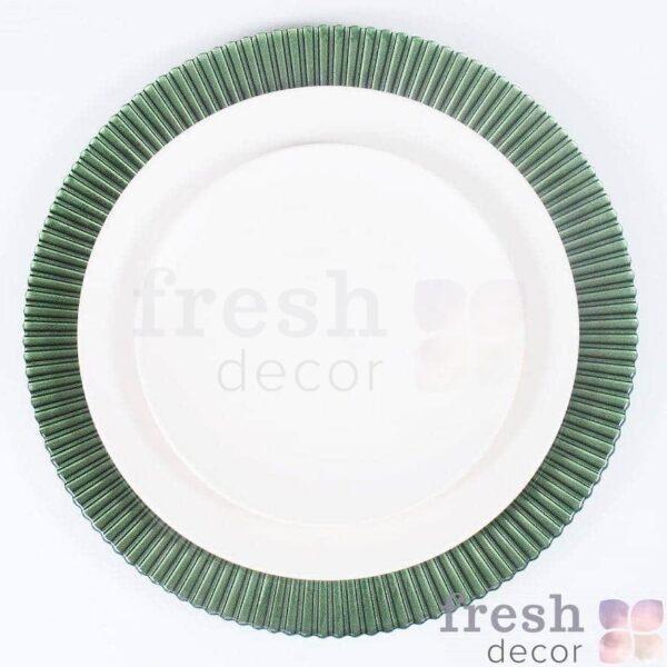 zelenaya podstavnaya tarelka iz stekla 1