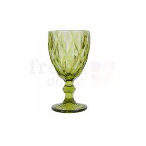 zelenyj bokal iz stekla s granyami 1